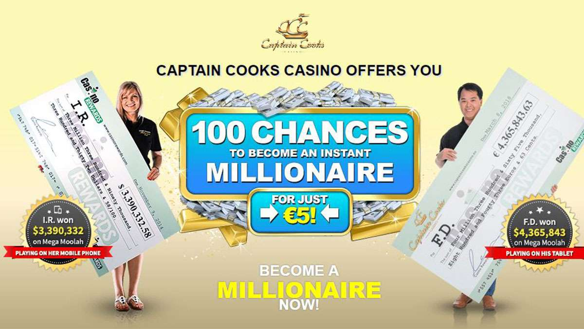 CAPTAIN COOKS CASINO OFFERS YOU - view