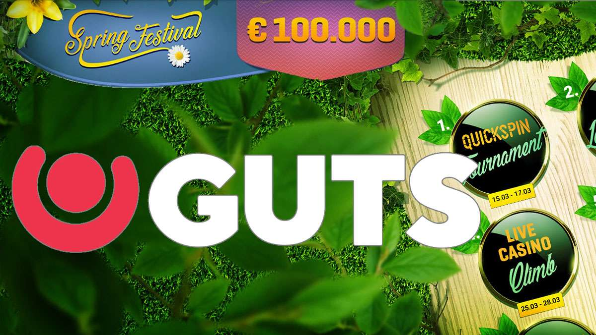 GUTS are giving away 100000 EUR in the Guts Spring Festiva