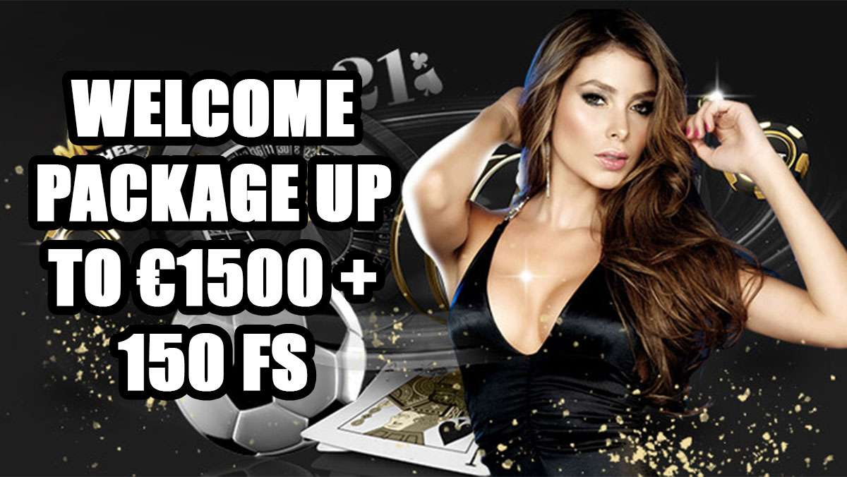 1xbet WELCOME PACKAGE UP TO 1500 EUR and 150 FS