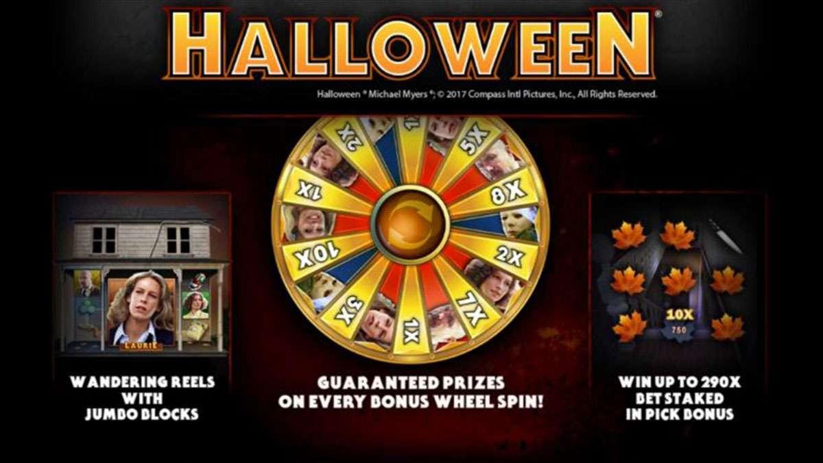 Spielen Halloween Online-Spielautomat und GEWINNEN Sie 100