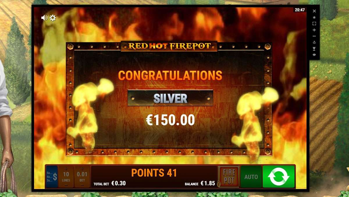 25 Free Spins for Monday on La Dolce Vita Red Hot Firepot - view