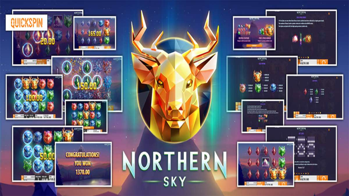 30 Free Spins on Northern Sky this Wednesday