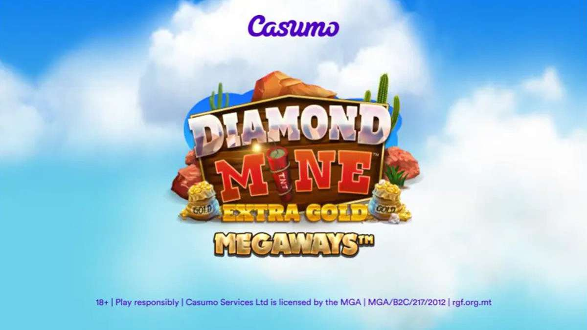 Diamond Mine Extra Gold Megaways an explosively exclusive game release at Casumo