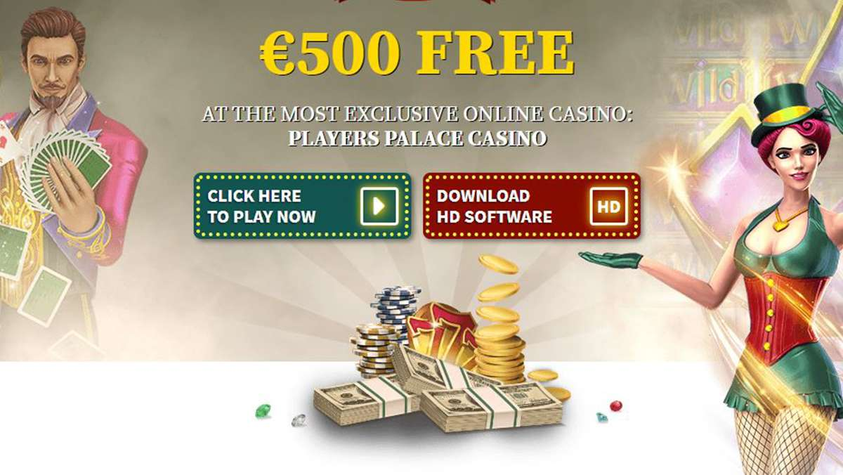Play with 500 EUR FREE at Players Palace Casino