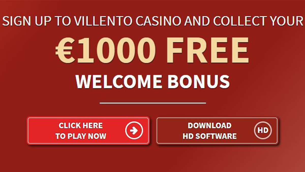 Sign up to Villento Casino and collect your 1000 EUR free welcome bonus