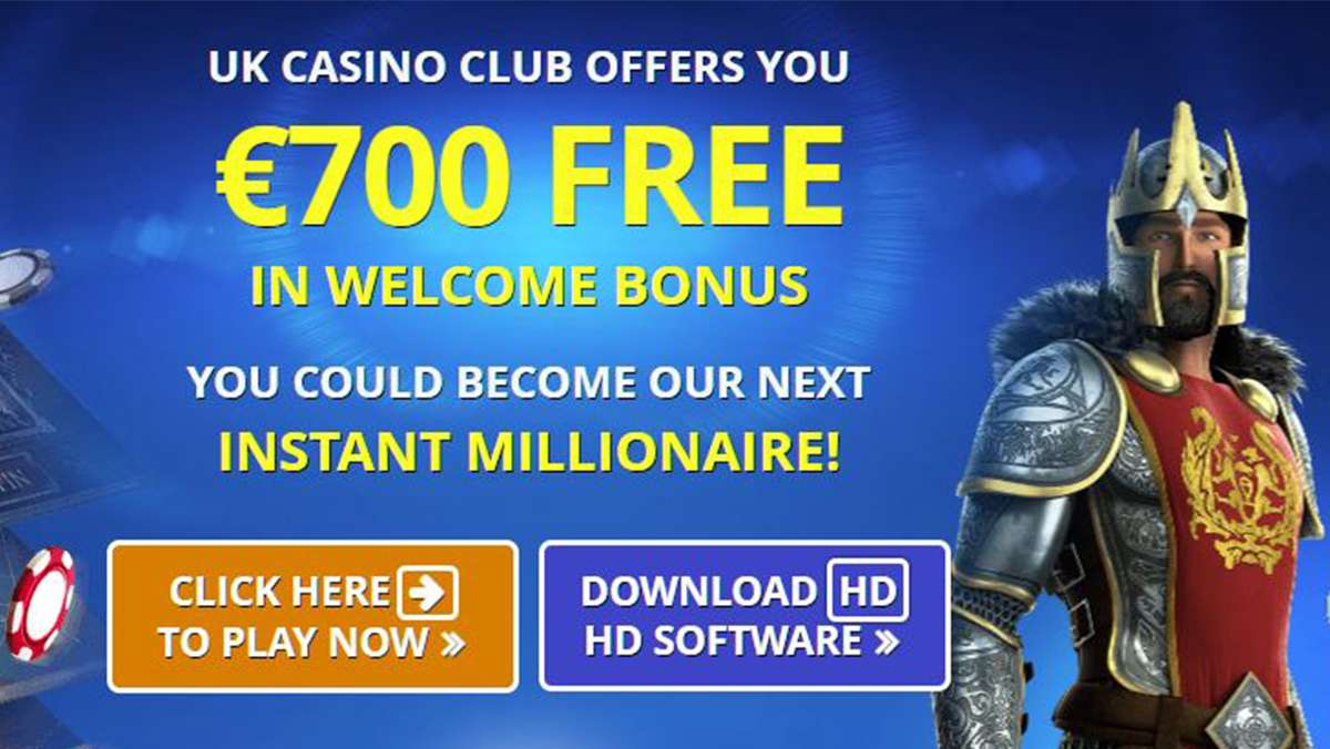 700 EUR in bonuses at UK Casino Club one of the most prestigious online casinos - view