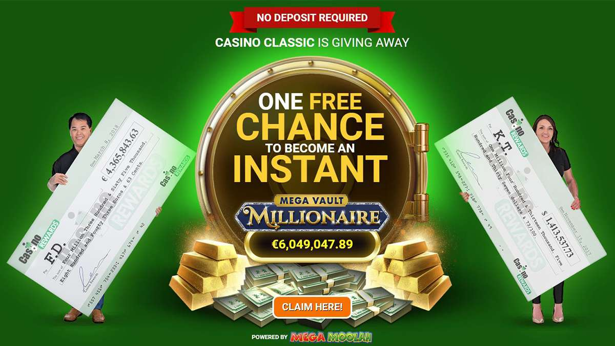 FREE chance to hit a guaranteed million dollar jackpot