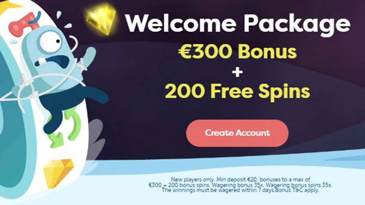 PlayFrank Welcome Package 300 EUR Bonus and 200 Free Spins - view