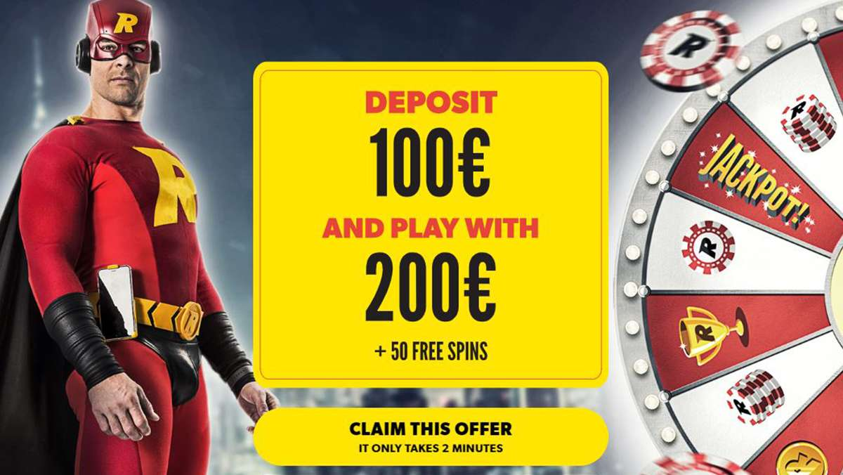 Deposit 100 EUR and play with 200 EUR and 50 Free Spins - view