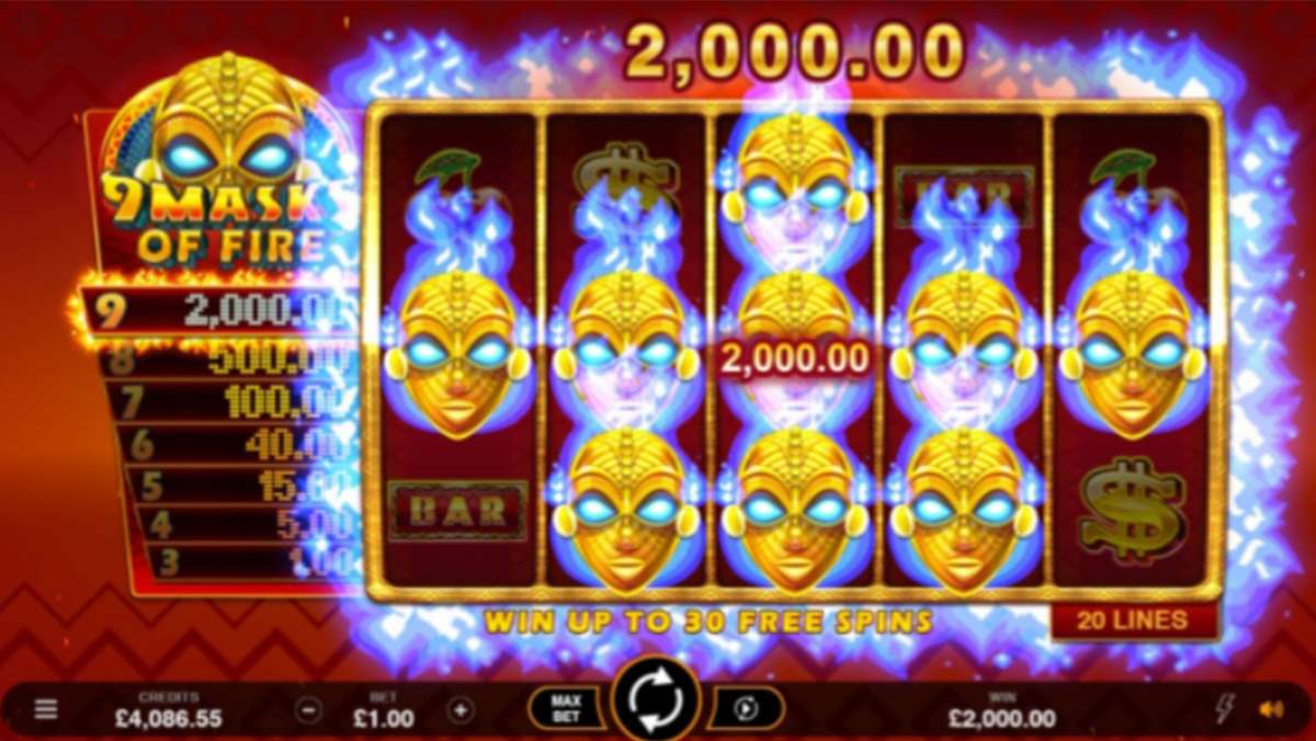 Monthly promo Double Points on 9 Masks of Fire Slot