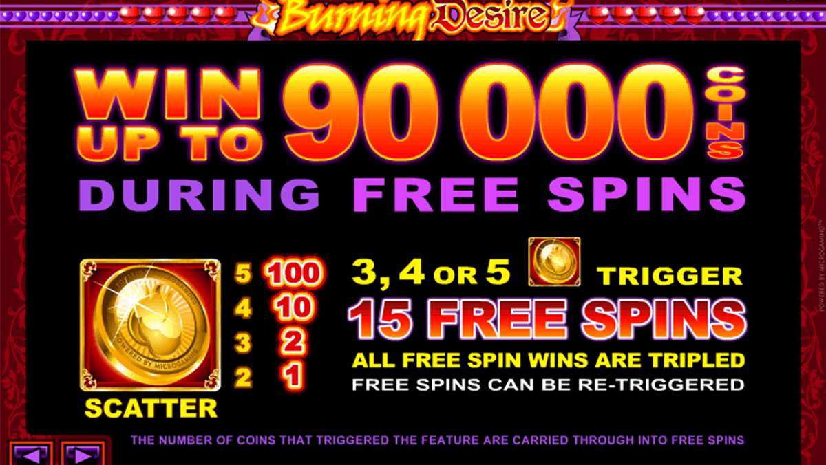 Play Burning Desire WIN 100 USD