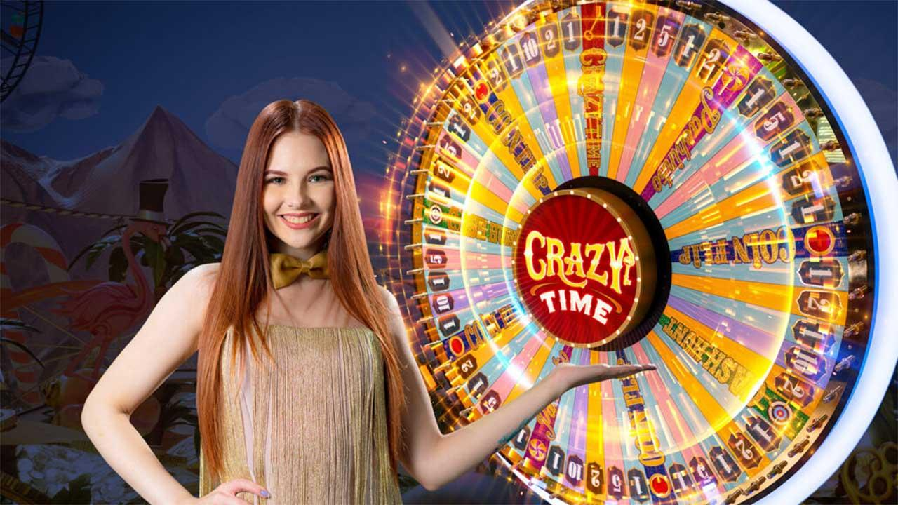 New Crazy Time Game Show Action from Evolution Gaming - view