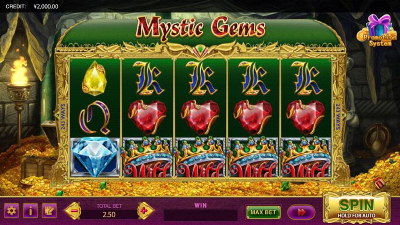 100 Free Spins on Mystic Gems at Miami Club Casino
