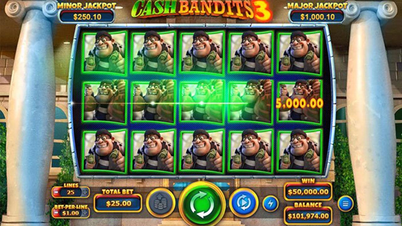 35 Free Spins on Cash Bandits 3 at Slotocash Casino (UWFM)