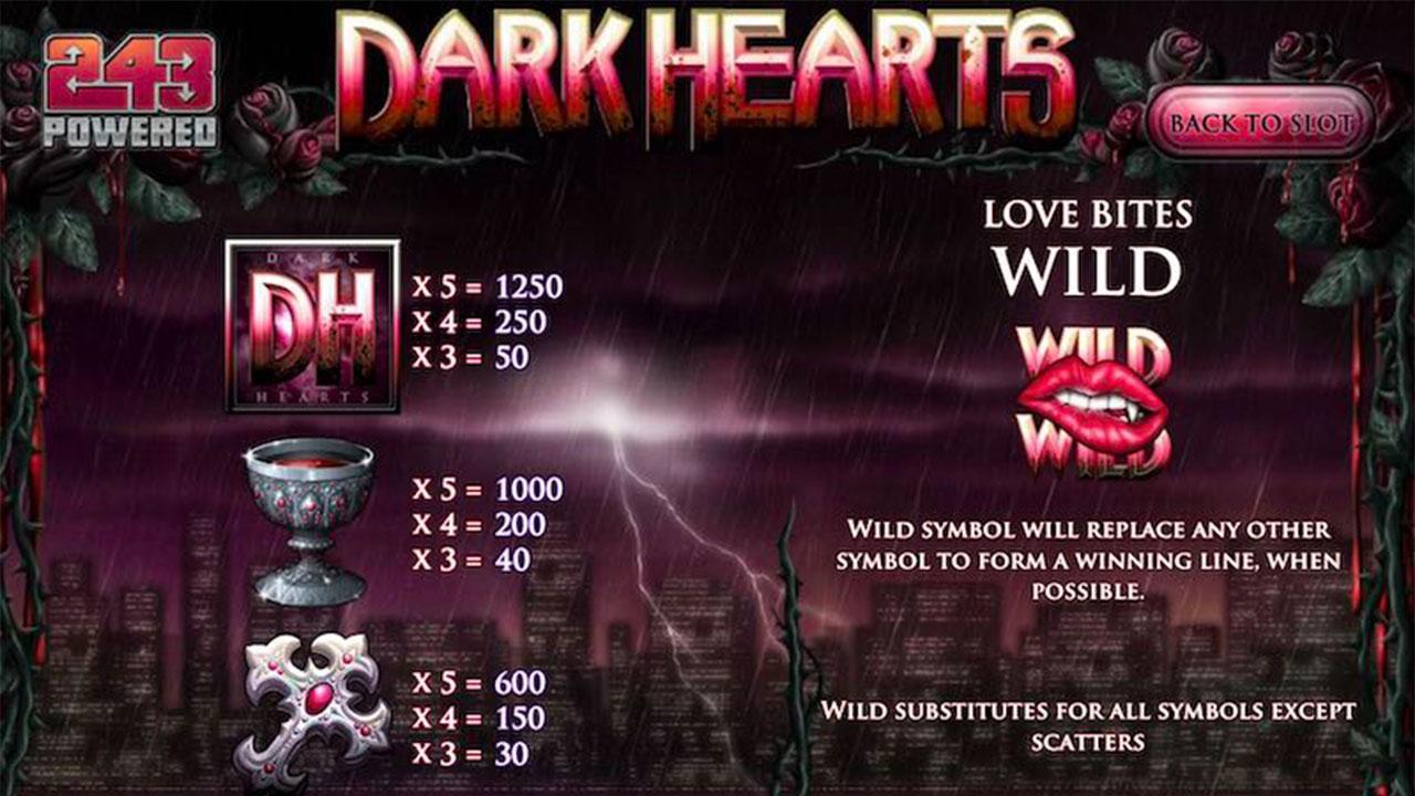 30 Free Spins on Dark Hearts at Desert Nights Casino