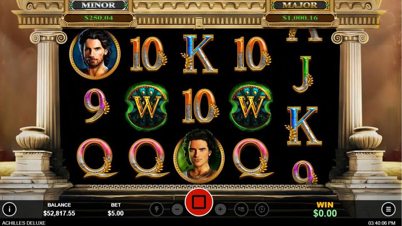 30 Free Spins on the Achilles Deluxe at Slotocash Casino