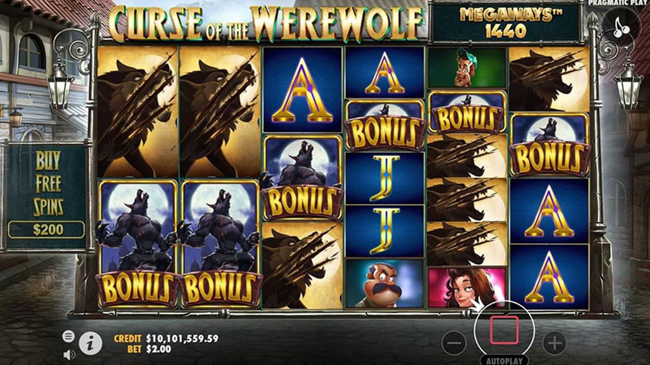 25 Free Spins on Curse of the Werewolf Megaways at SpartanSlots Casino