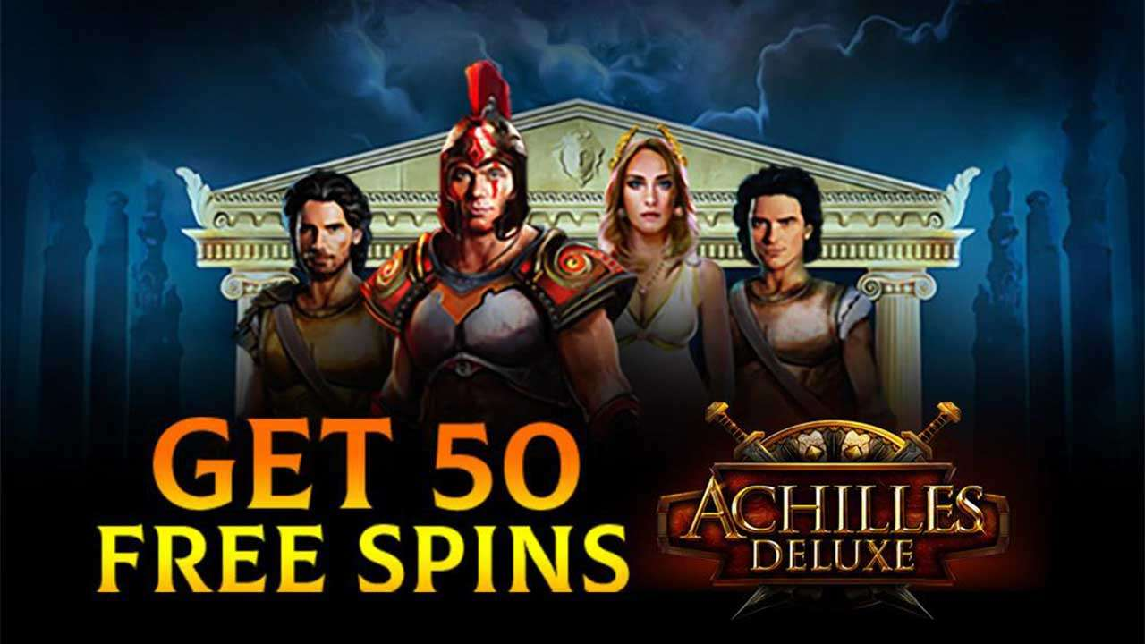 50 Free Spins on the Achilles Deluxe at Uptown Pokies Casino