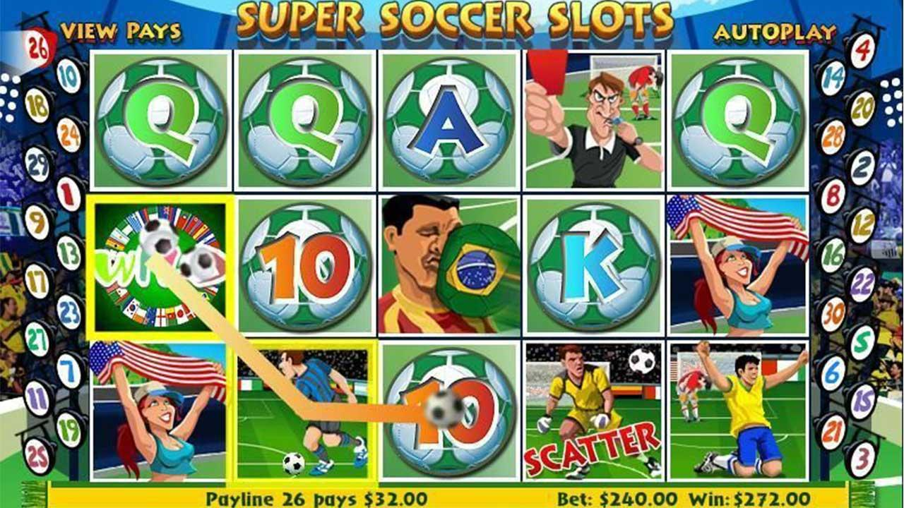 50 Free Spins on Super Soccer Slots at Miami Club Casino