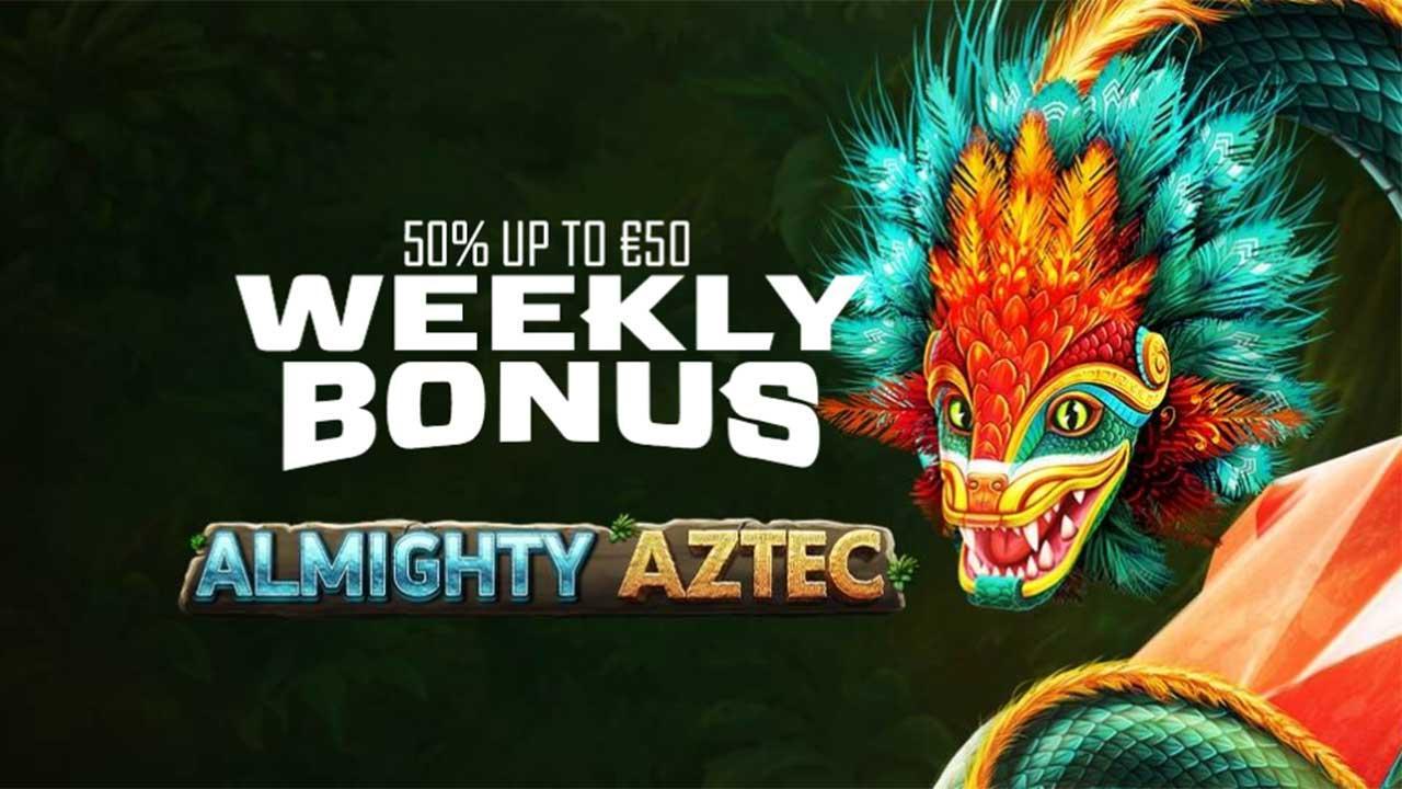 Weekly Bonus on Almighty Aztec at EnergyCasino