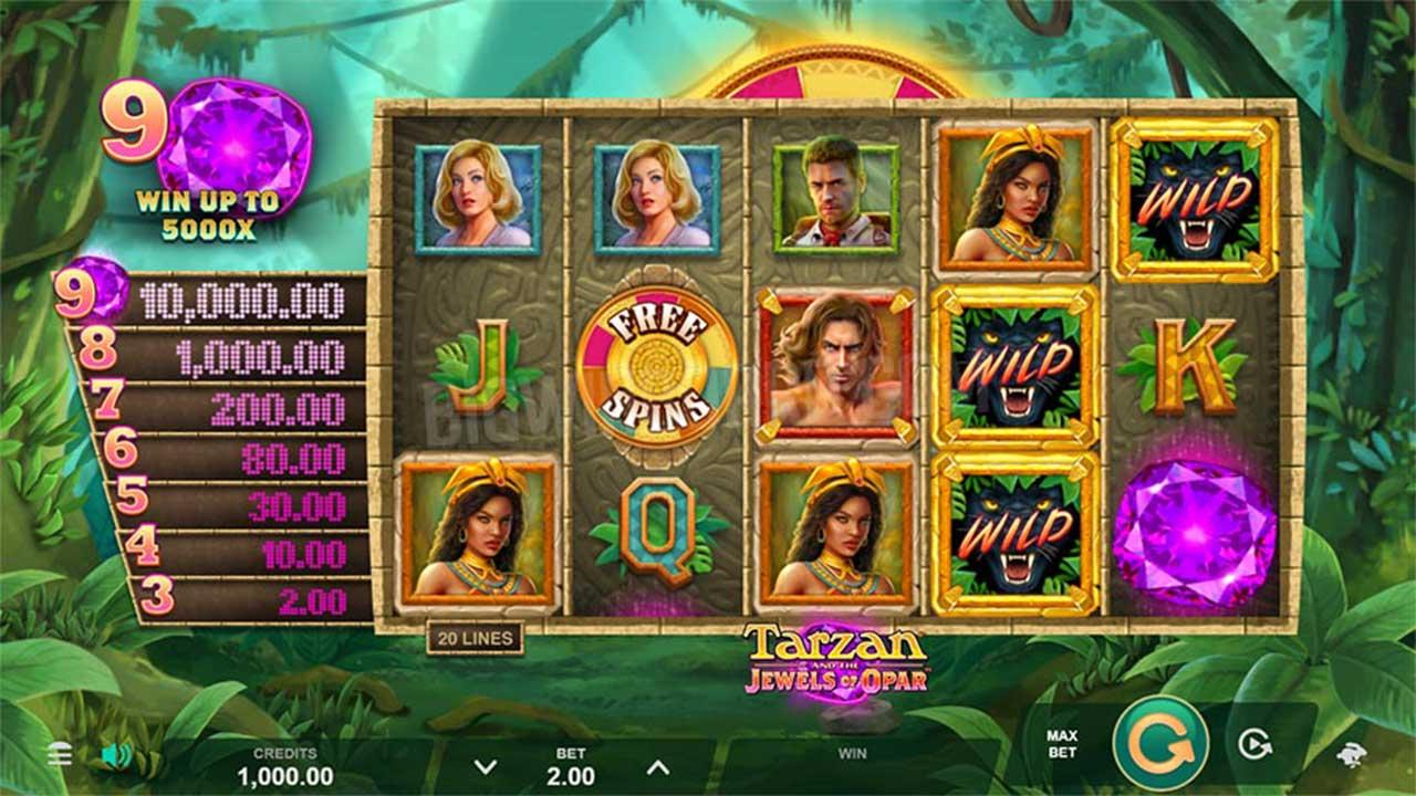Play Tarzan and the Jewels of Opar and WIN £€$100