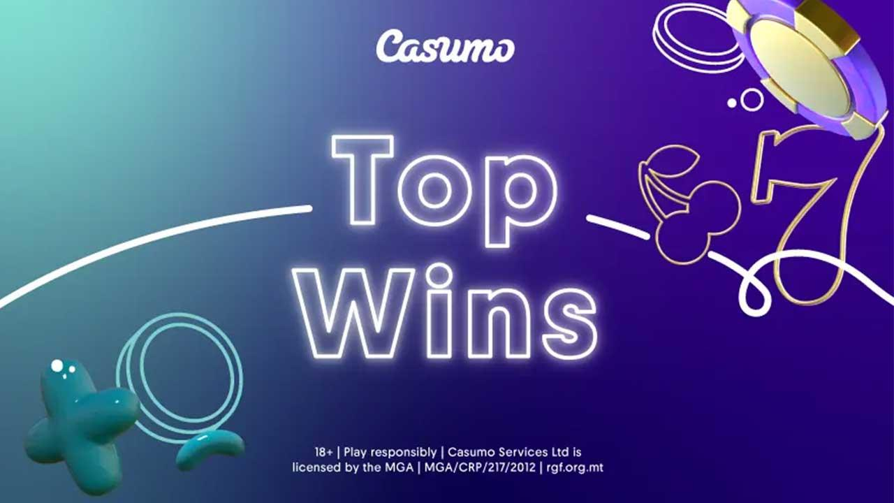 The August Top Wins 2020 at Casumo Casino