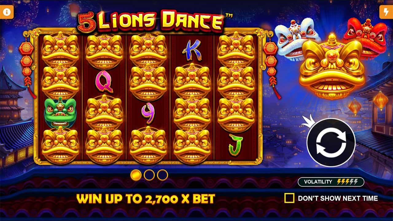 25 Free Spins on 5 Lions Dance at SpartanSlots Casino