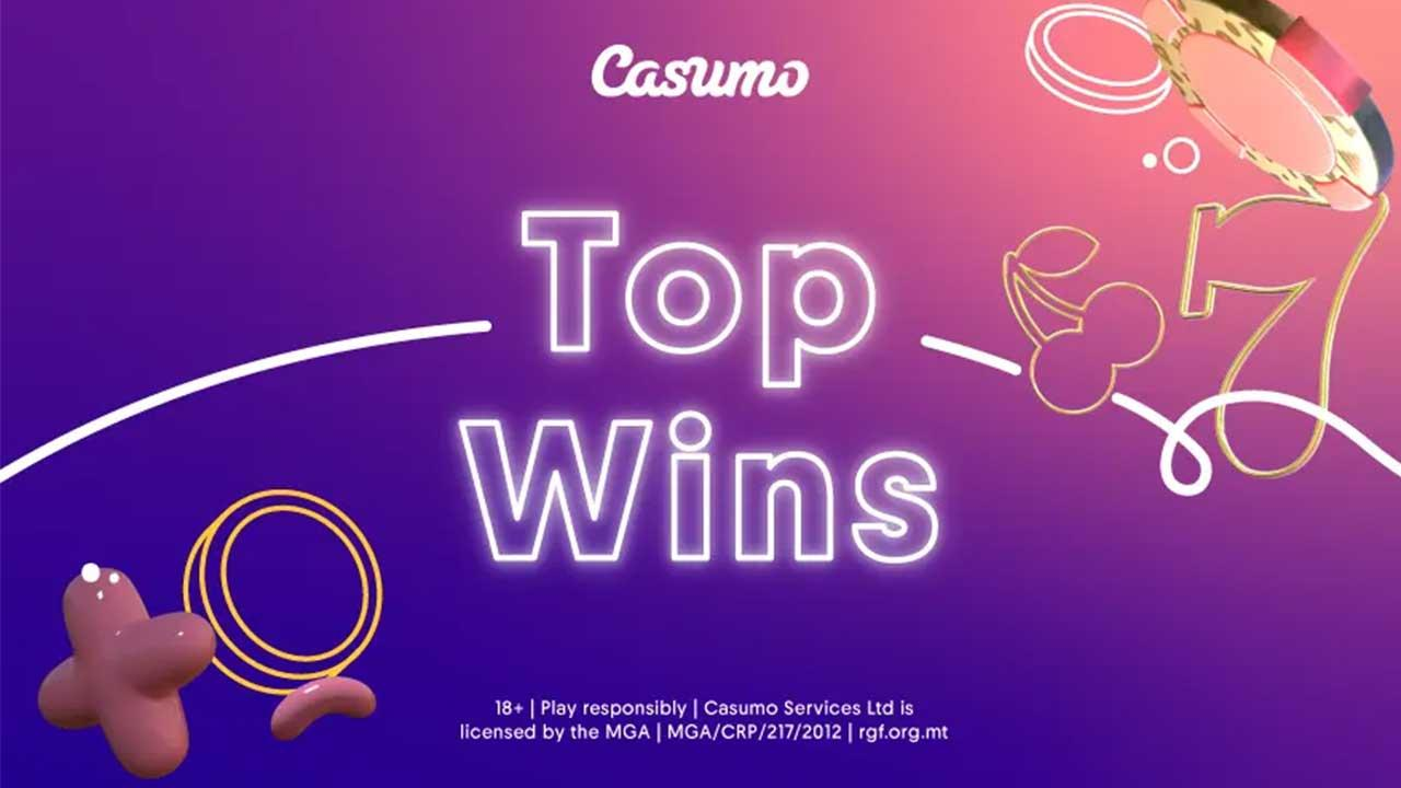 September Top Wins 2020 at Casumo Casino