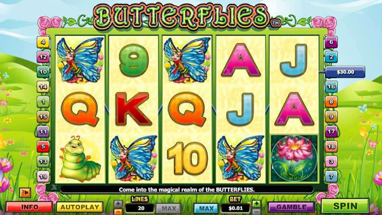 66 Free Spins on Butterflies II at Red Stag Casino
