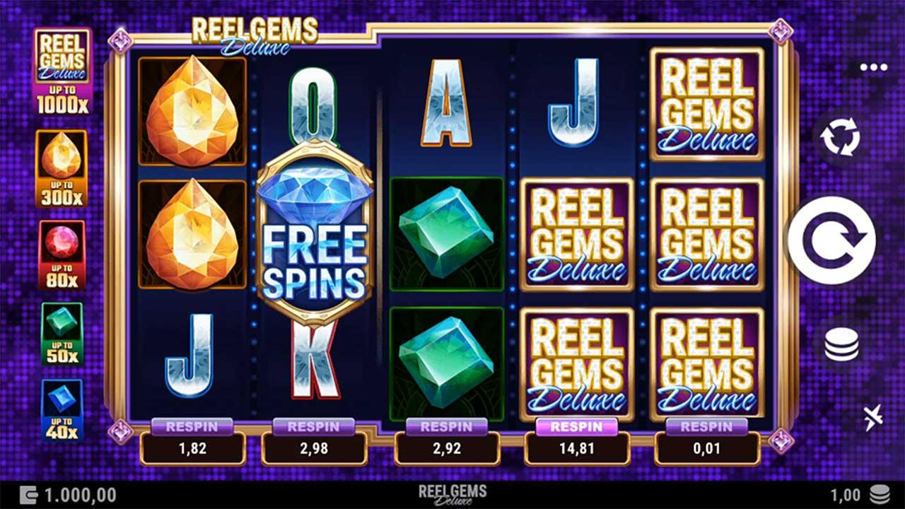 Play Reel Gems Deluxe and lucky players win £€$100