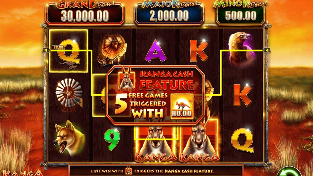 50 Free Spins on Kanga Cash at Miami Club Casino w2