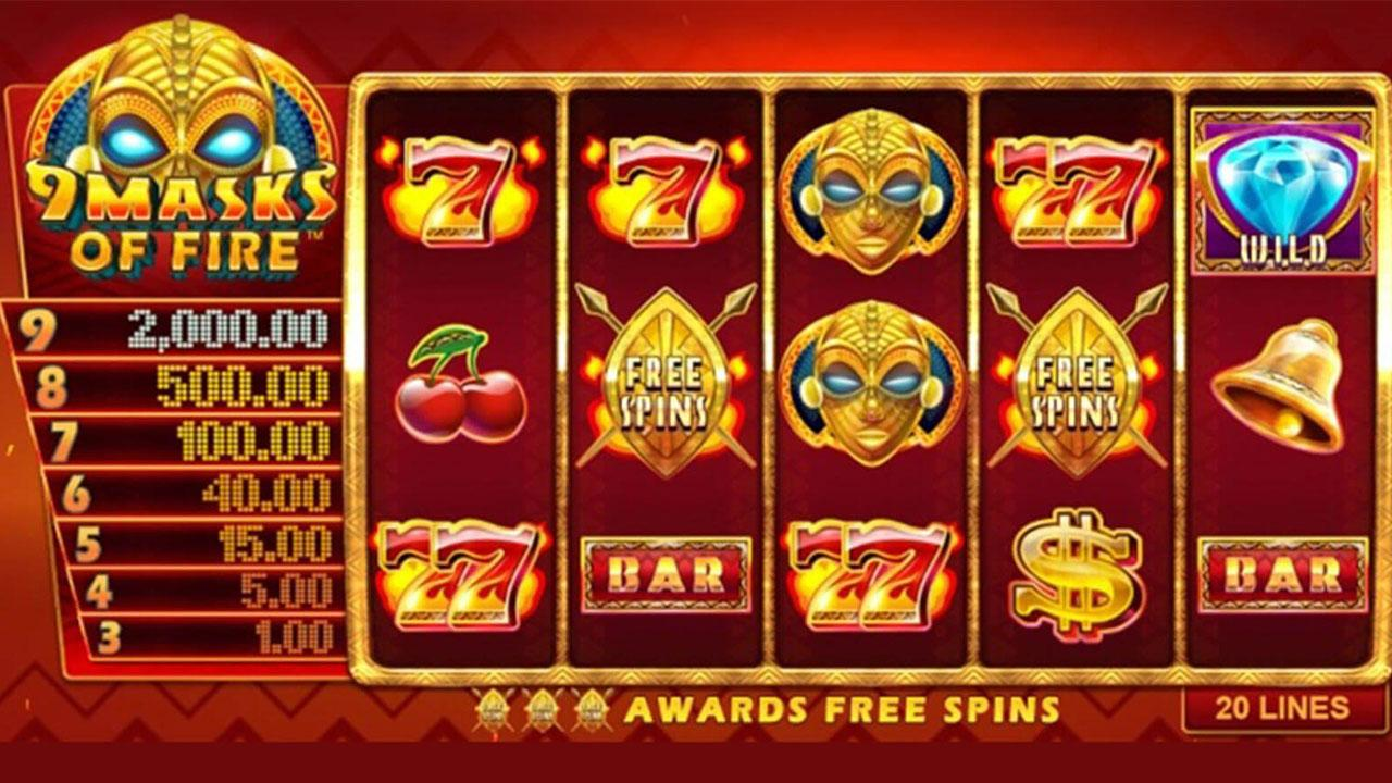 Double Points on 9 Masks of Fire