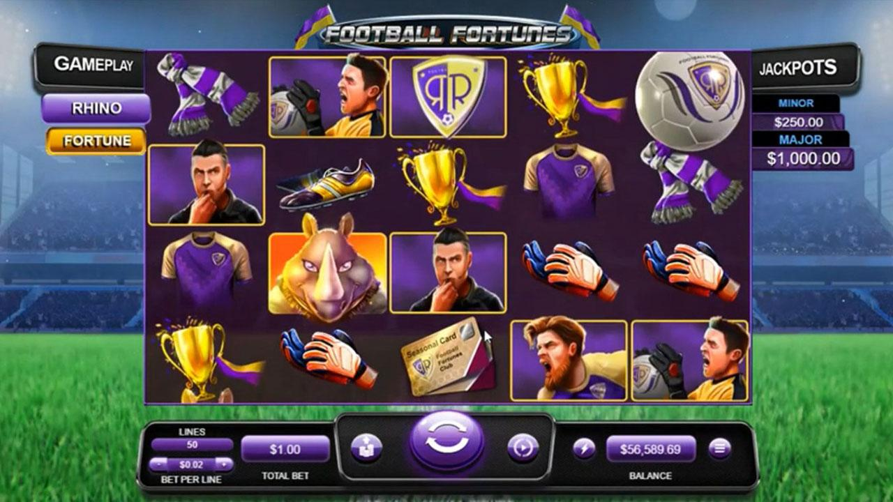 30 Free Spins on Football Fortunes at Slotocash Casino