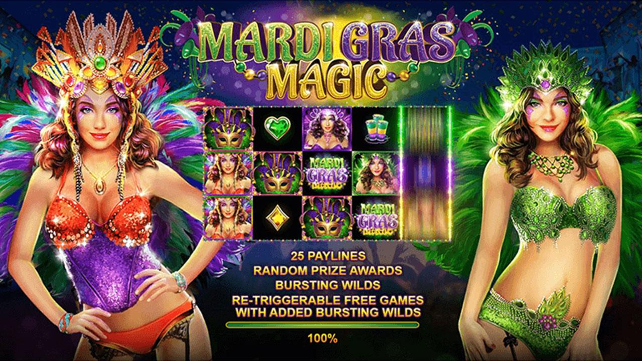 50 Free Spins on Mardi Gras Magic at Slotocash Casino