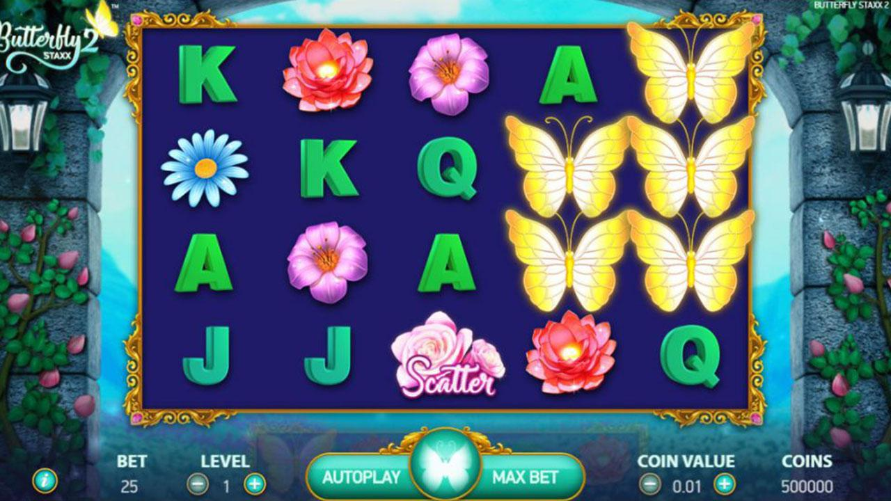 55 Free Spins on Butterflies II at Red Stag Casino