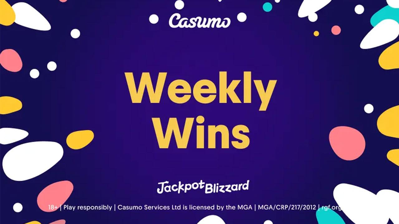 Last weeks Jackpot Blizzard wins at Casumo Casino
