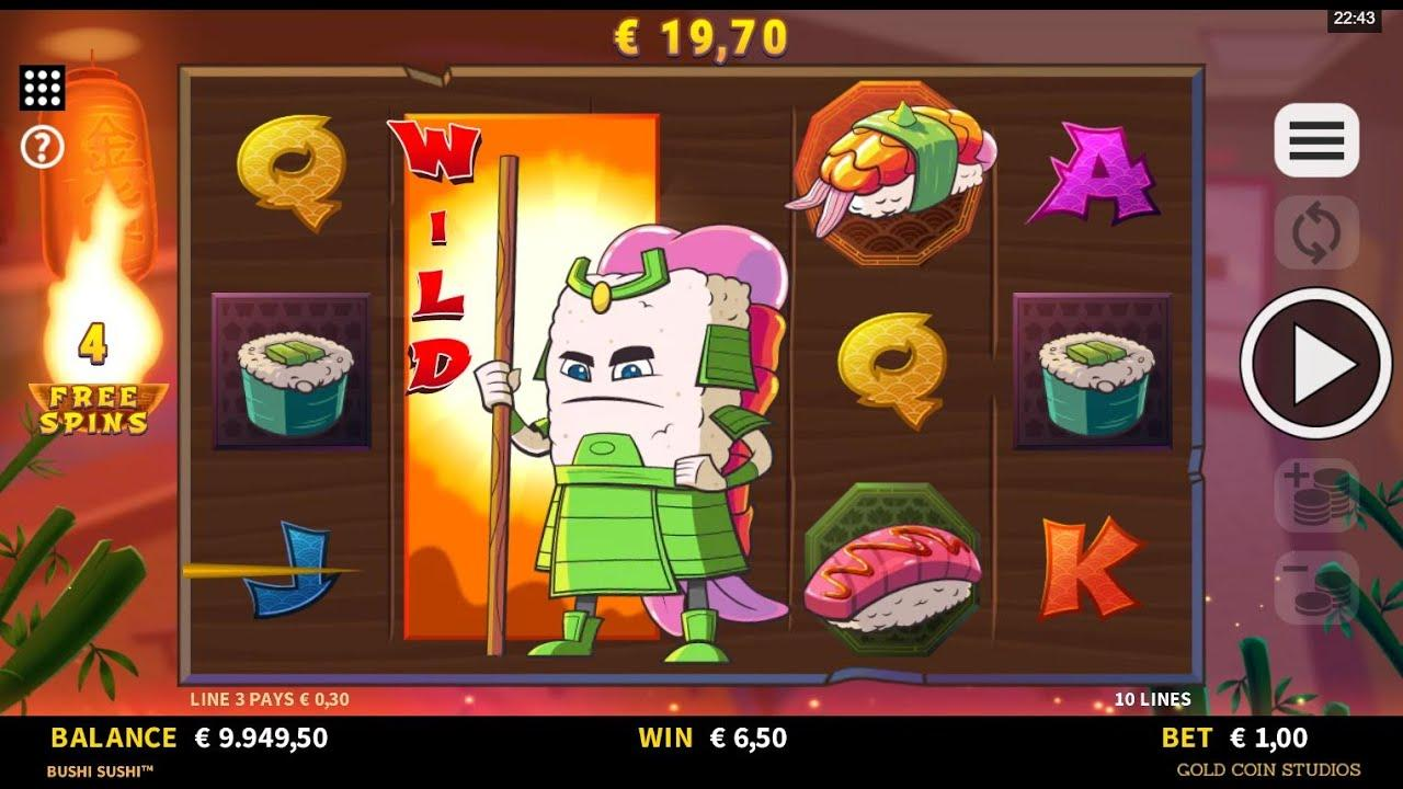 Play Bushi Sushi and WIN 100