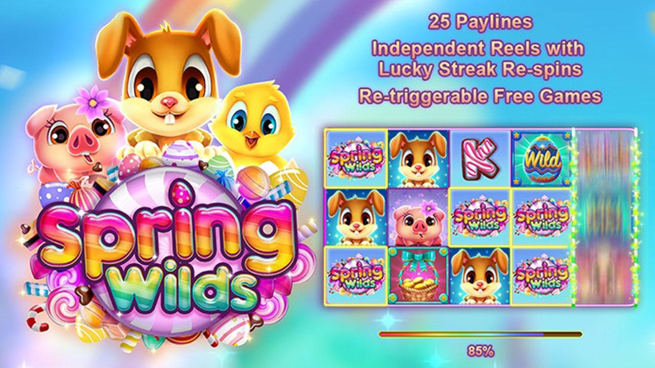 50 Free Spins on Spring Wilds at Slotocash Casino