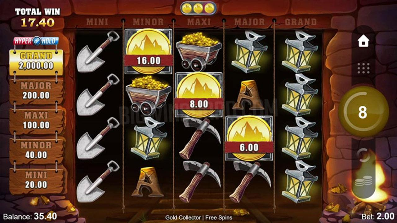 Play Gold Collector HyperHold and win 100