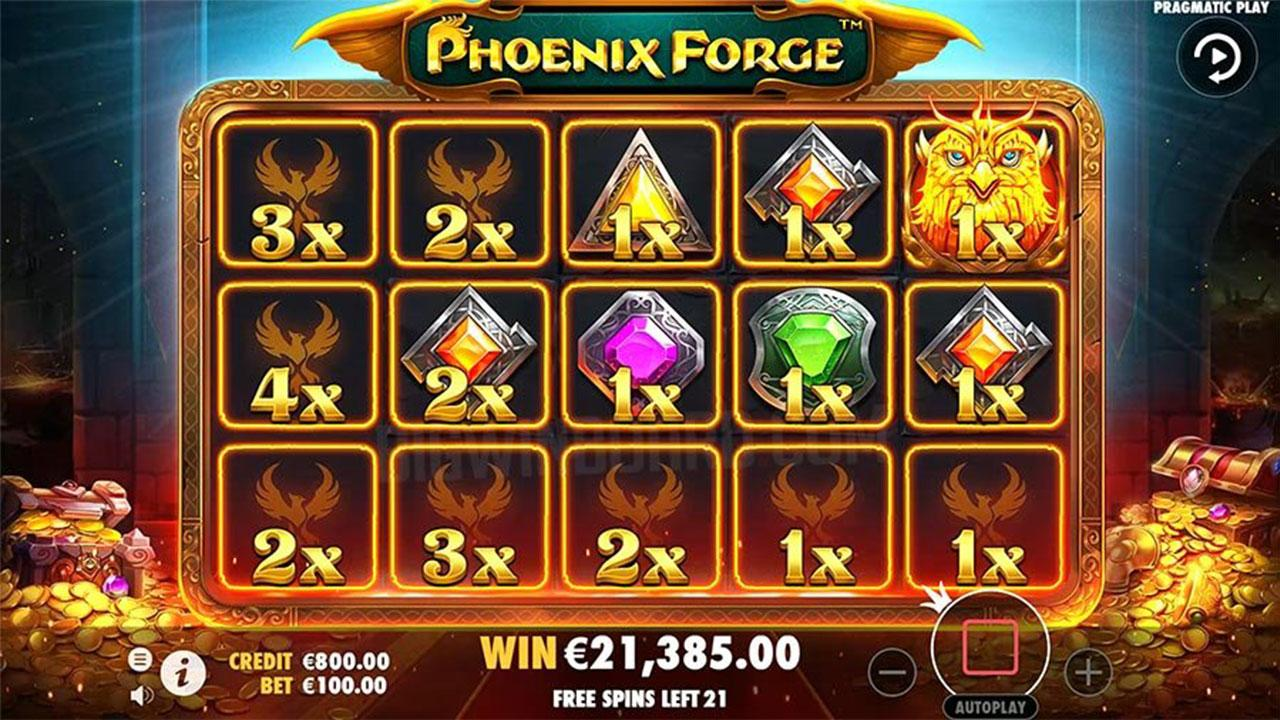 25 Free Spins on Phoenix Forge at Spartan Slots Casino