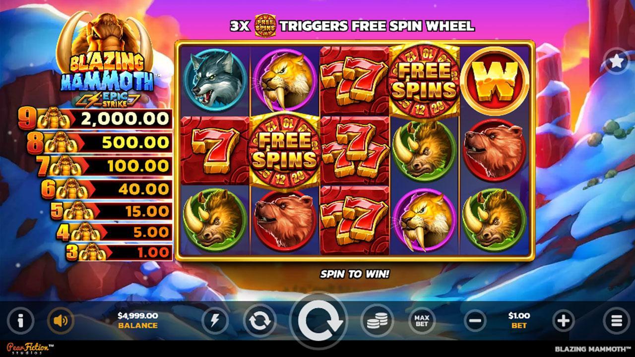 Play Blazing Mammoth and WIN 100