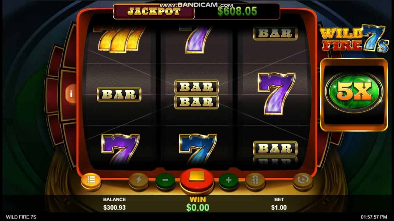 21 Free Spins on Wild Fire 7s at Slotocash Casino