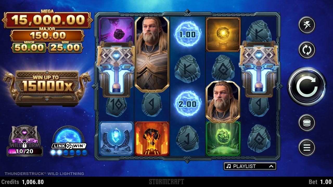 Play Thunderstruck Wild Lightning and WIN 100