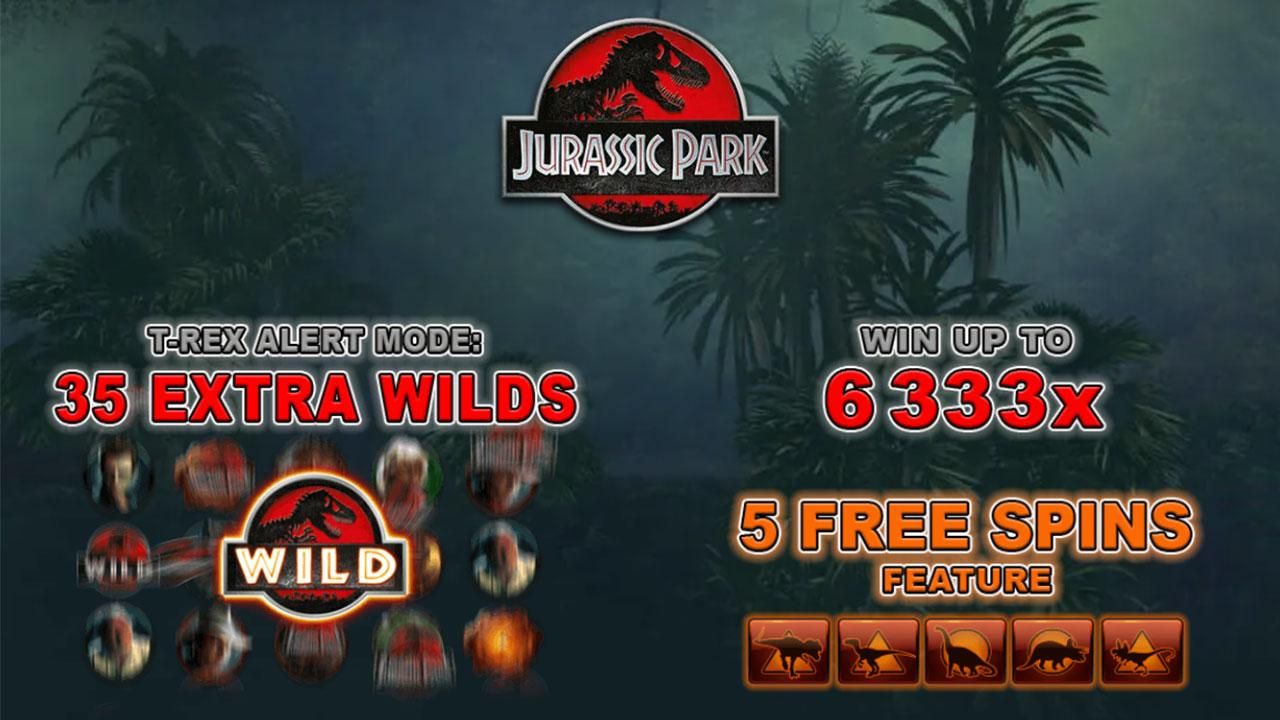 Play Jurassic Park Remastered Online Slot and WIN 100 USD