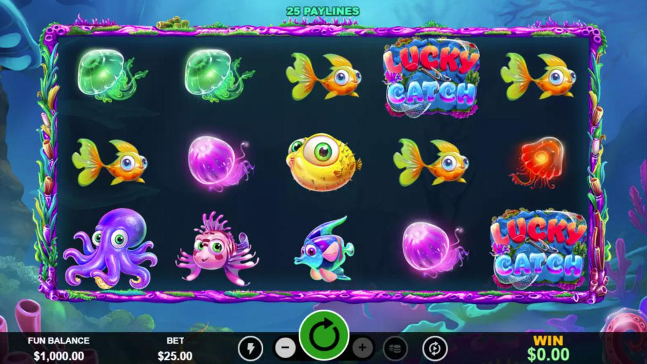50 spins on Lucky Catch at Slotocash Casino