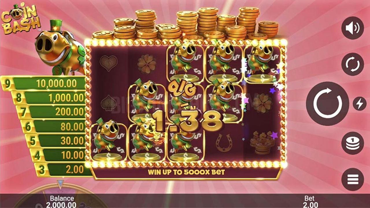 Play Coin Bash slot and WIN 100