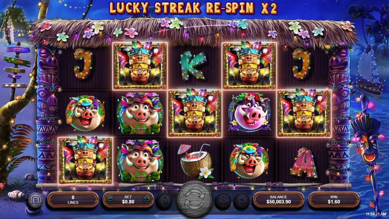 100 Free Spins on Wild Hog Luau at Slotocash Casino