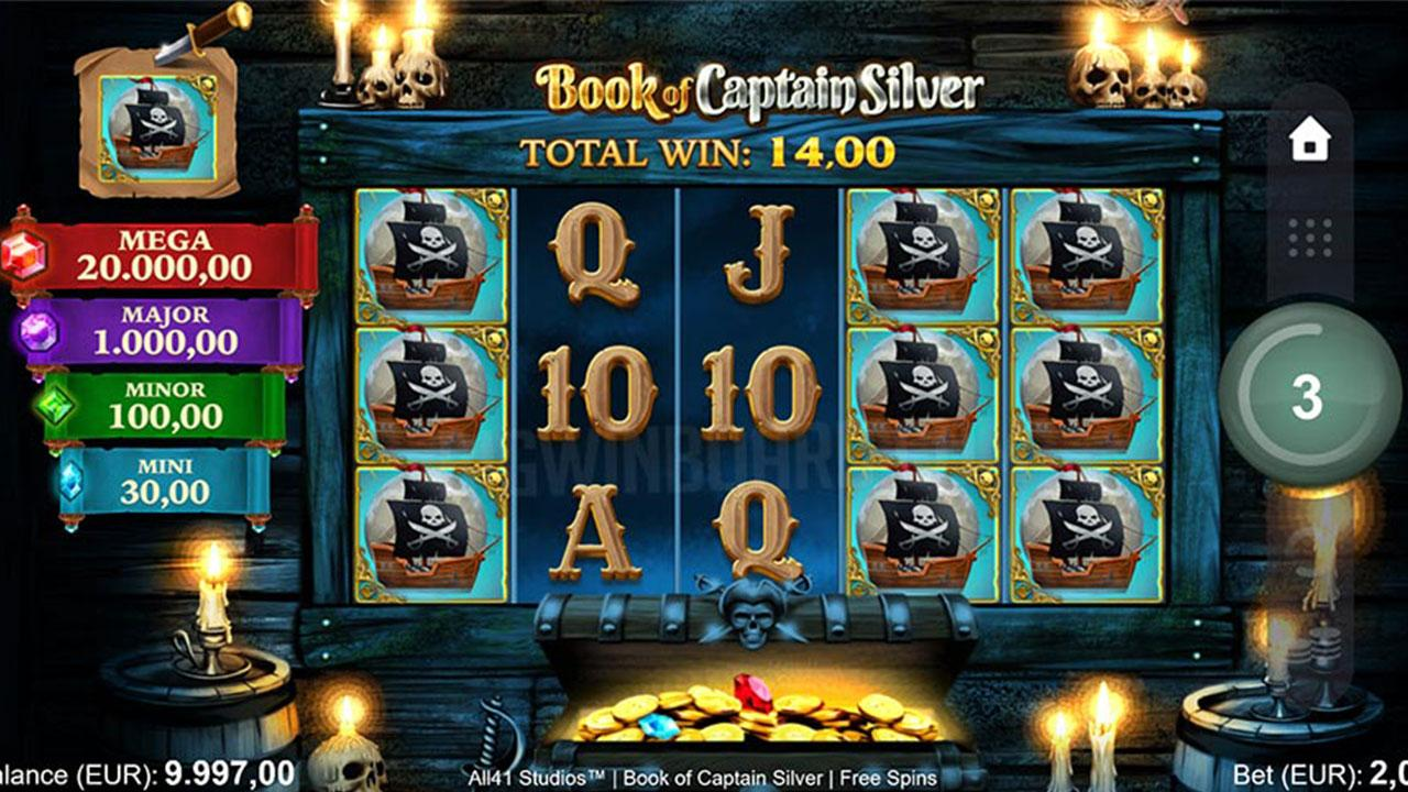Play Book of Captain Silver and win $100