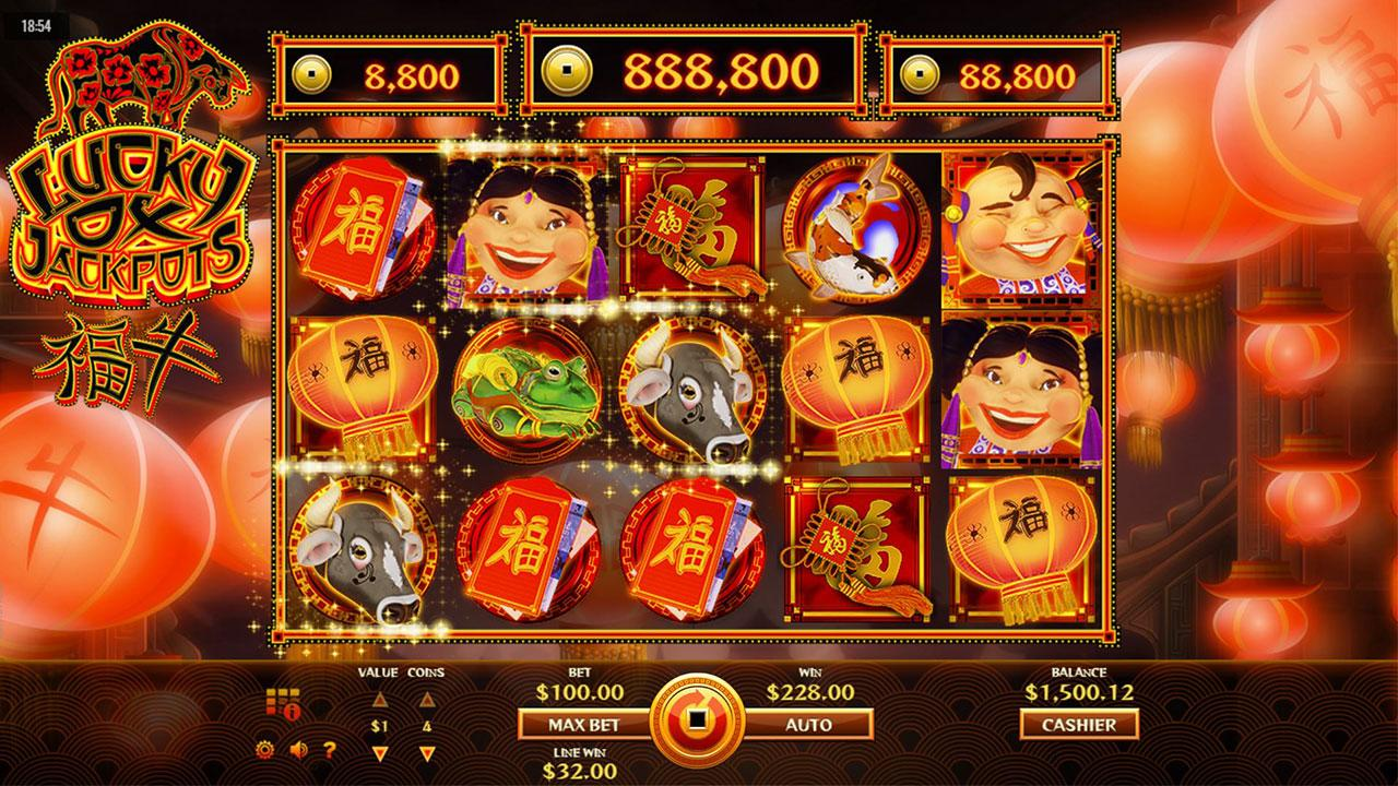 20 Free Spins on Lucky Ox Jackpots at Desert Nights Casino