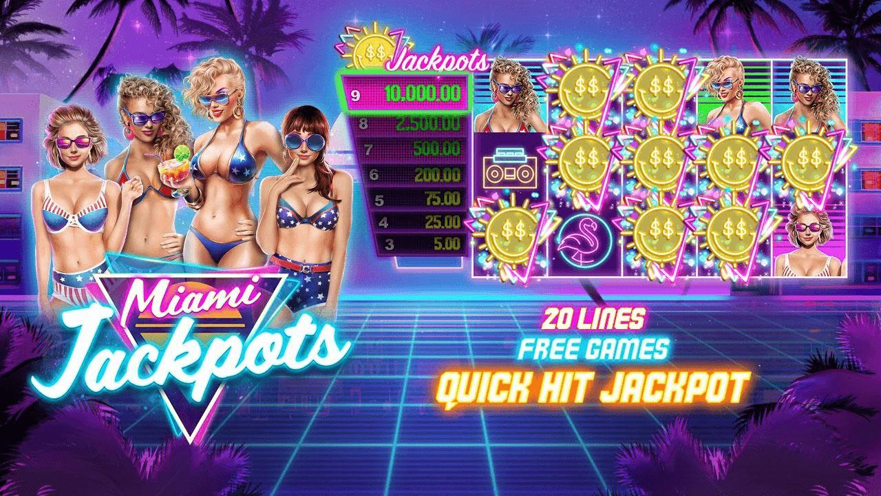 100 Free Spins on Miami Jackpots at Slotocash Casino